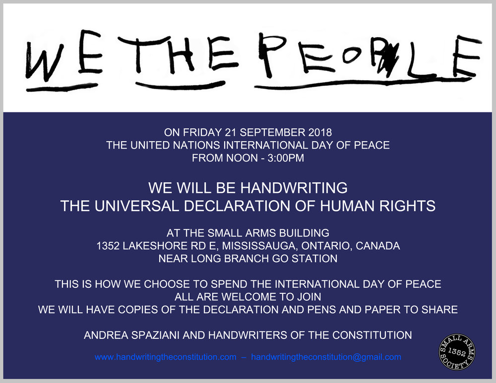 21 September 2018mississauga, Canada - collaborators andrea spaziani and the small arms society