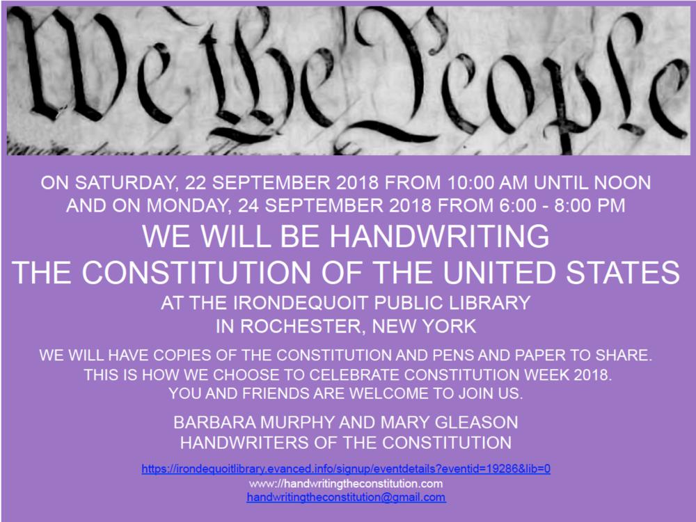 22 SEPTEMBER 2018rochester, NY - collaborators barbara murphyand mary gleason