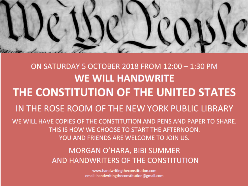 5 OCTOBER 2018New York City - with morgan o'hara and bibi summer