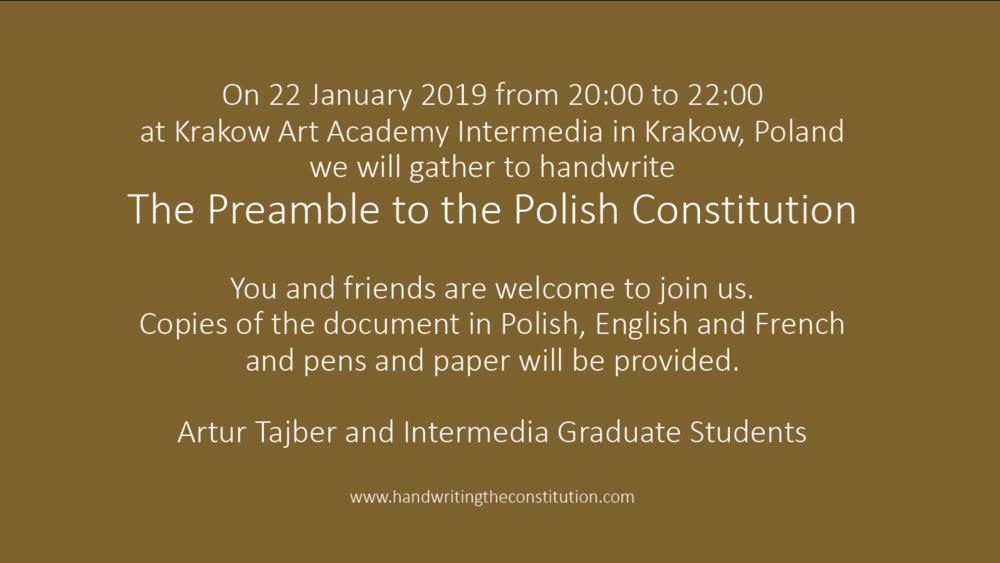#9022 january 2019krakow, poland - Session 84 collaborators artur tajber andintermedia graduate students