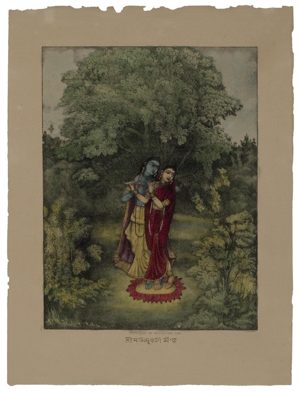 Radha Krishna, c. 1880