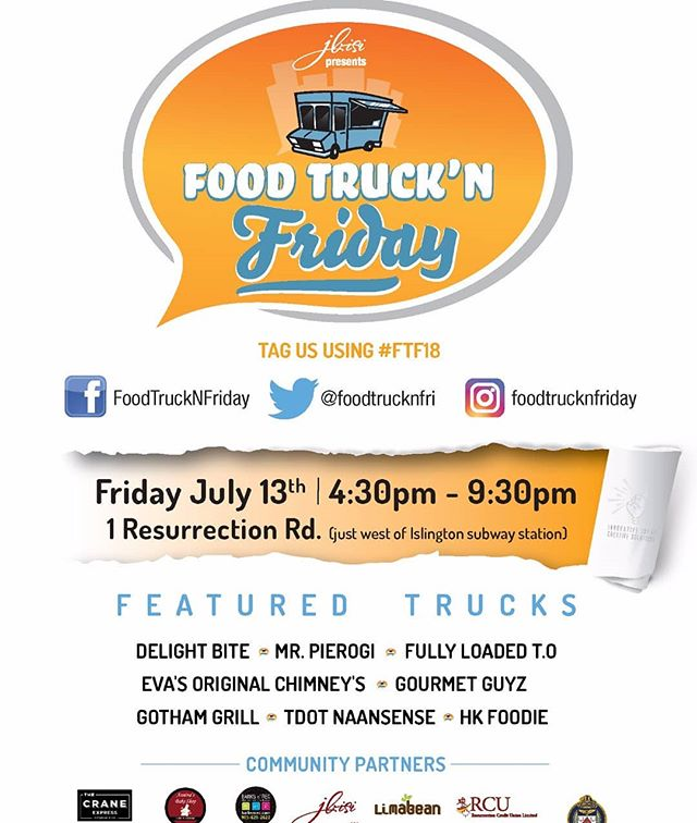 TGIF folks! . Once again, we are back in Etobicoke at 1 Ressurection Road, in collaboration with our proud partners and friends @foodtrucknfriday! . See you here! . #FoodTruckToronto #blogto #TorontoEats #Etobicoke #Boba #HaloHalo #416 #TrucksTO #foodie #Foodstagram #FoodTruckFridays - #FTF #2018 #Summer