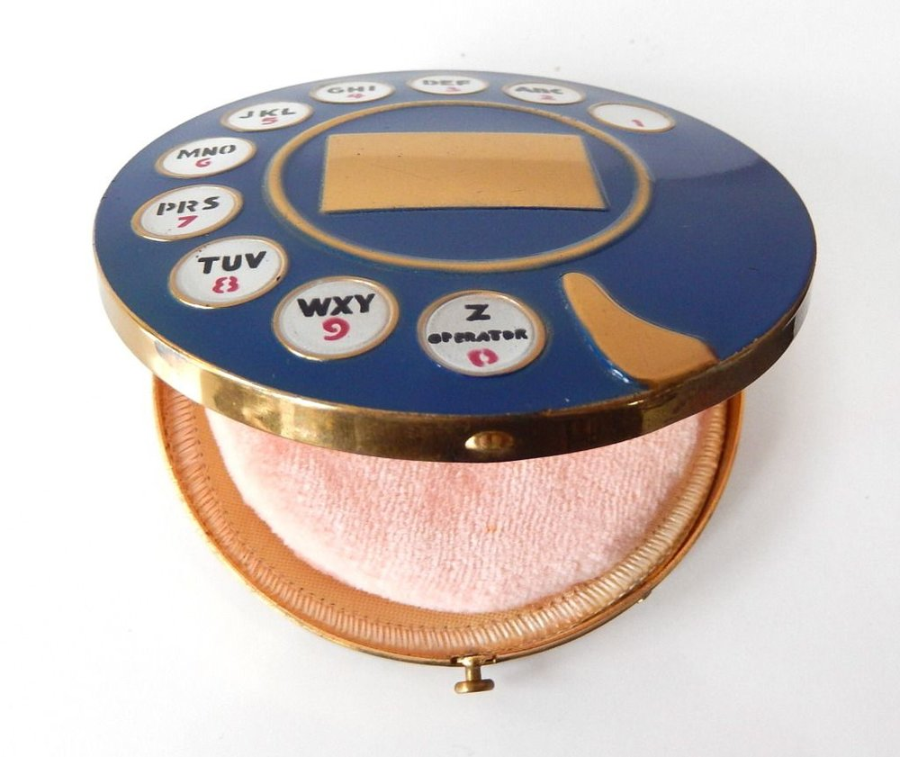 Telephone Dial Powder Compact, 1935