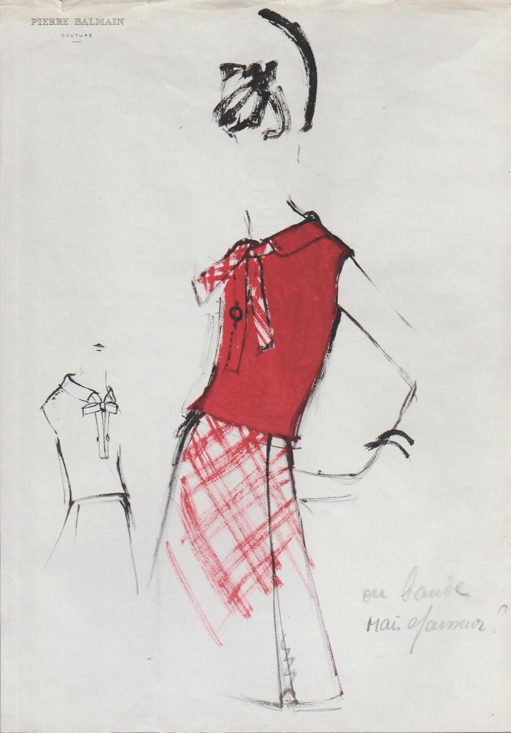 Ensemble in Red, ca. 1950