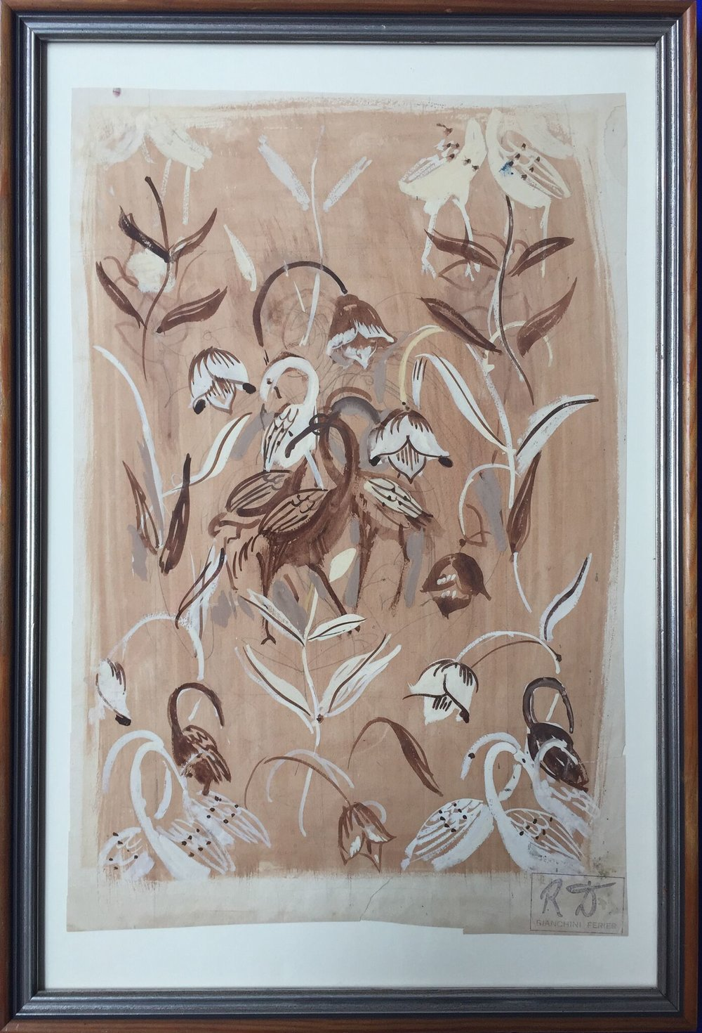 Fleurs et Echassier - Design for Bianchini Ferier