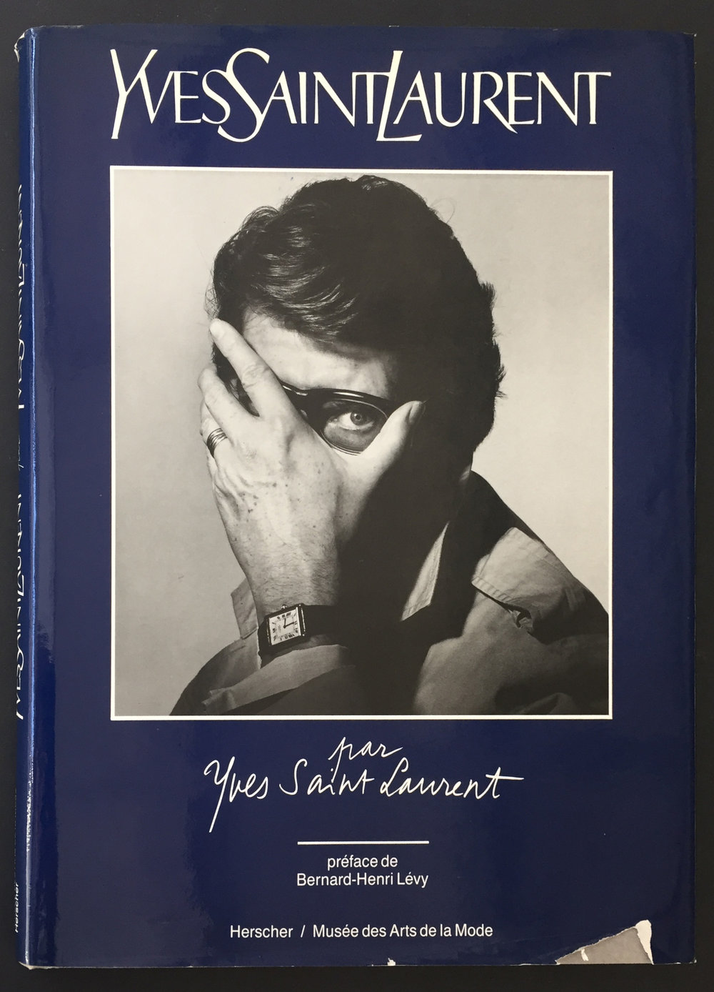 Yves Saint Laurent par Yves Saint Laurent. Preface de Bernard-Henri Levy - Inscribed with an Original Drawing by YSL