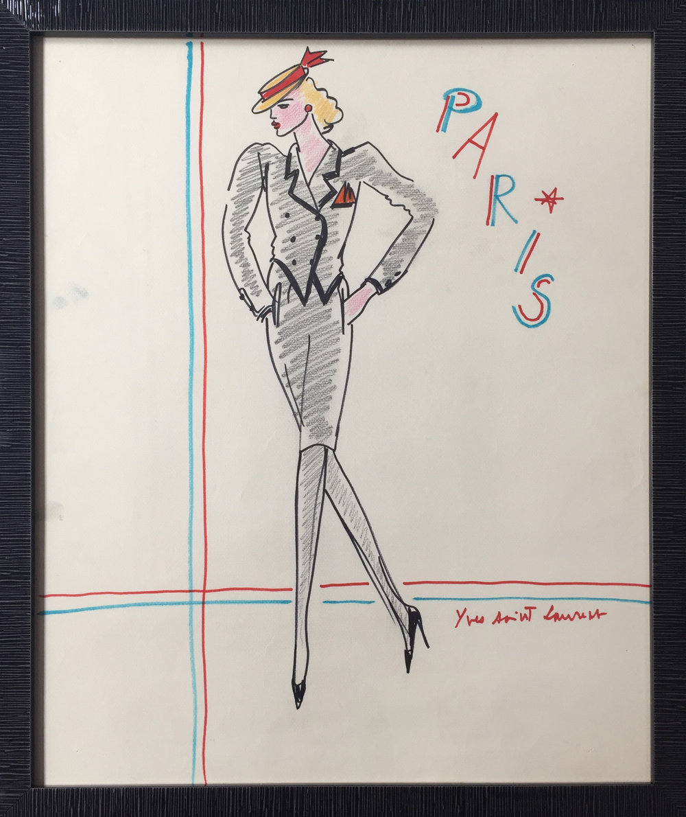 Paris - signed Design for a Black Suit