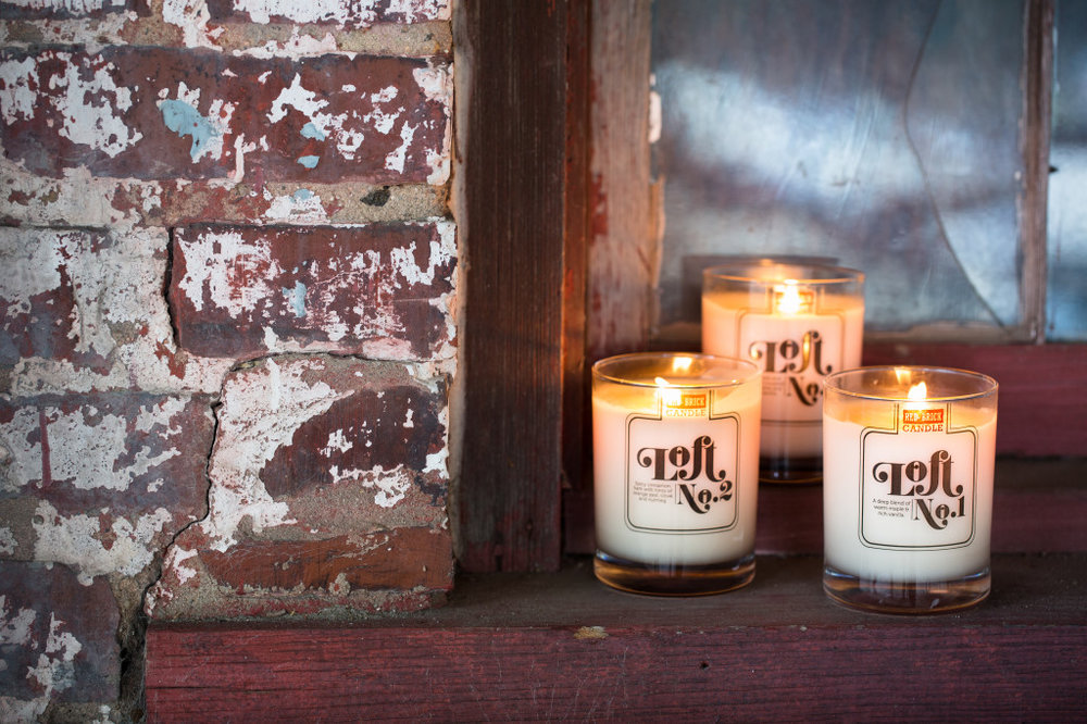 Red Brick Candle