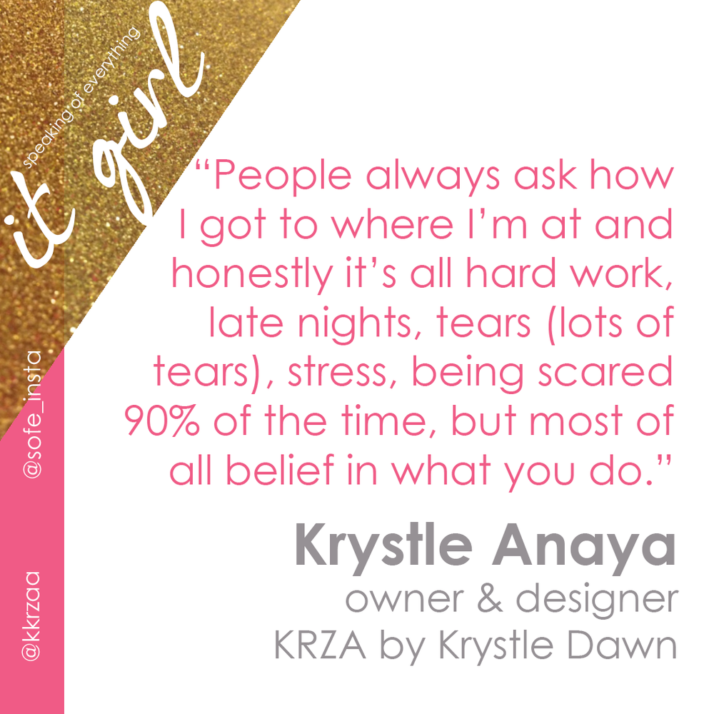 It Girl Graphic Quote- Krza