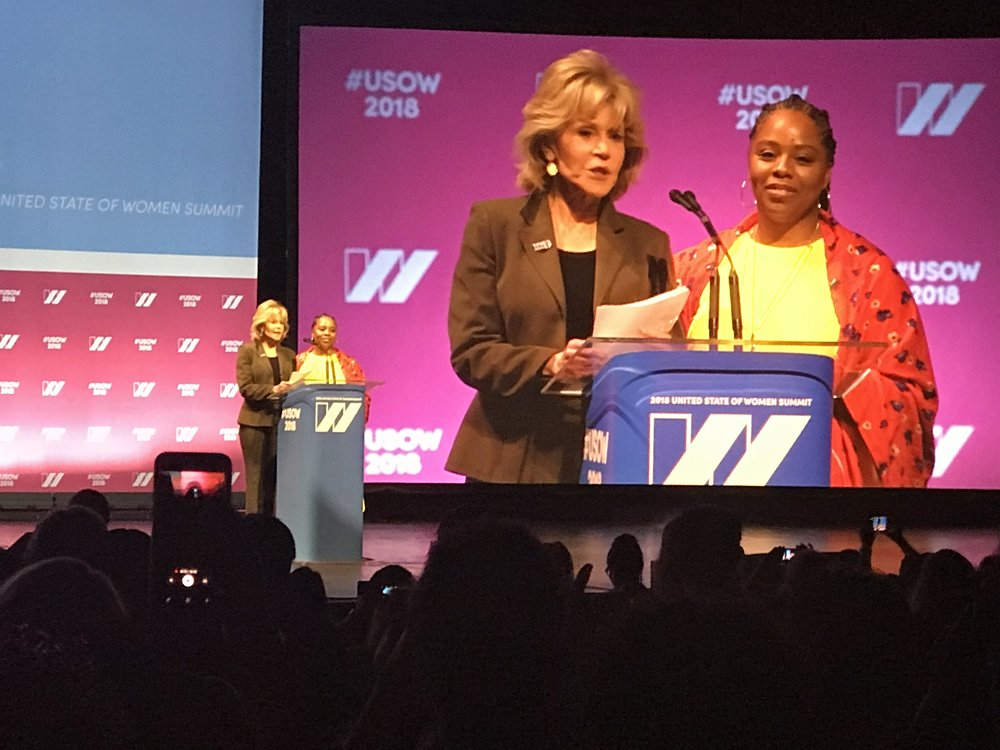 Jane Fonda and Patrisse Cullers