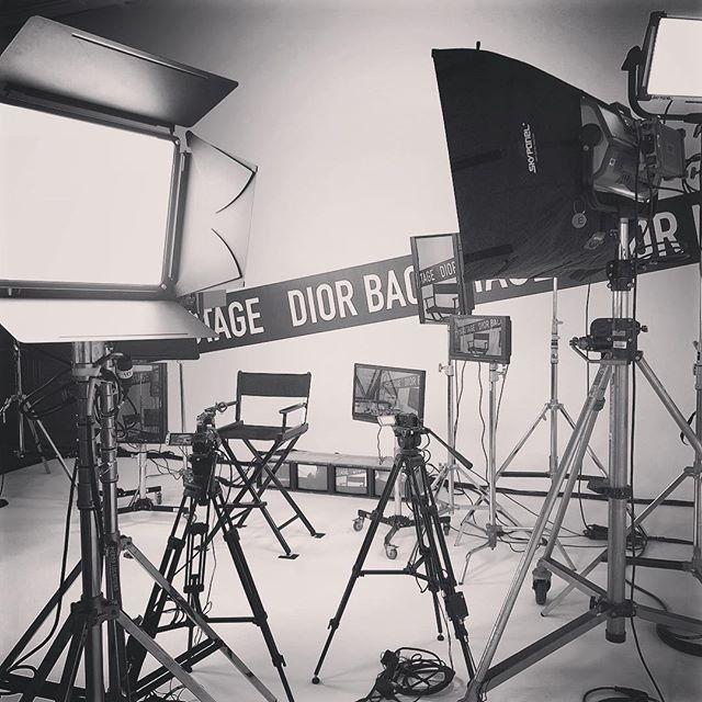 Backstage at @dior #setdesign and #production by @levynyc @lytehouse_studio #levynyc #lytehousestudio #backstage #dior #fashion #makeup #set #setbuild #lights #skypanel