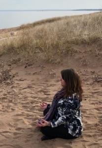 Meditating on the Beach.JPG