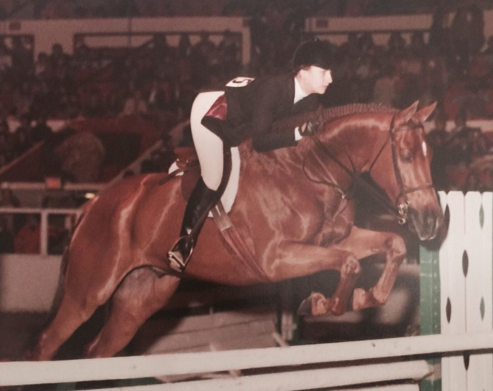 With K-Doc at ASPCA Maclay Final, Madison Square Garden, 1980