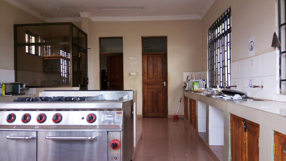 Kitchen equipped with gas stove