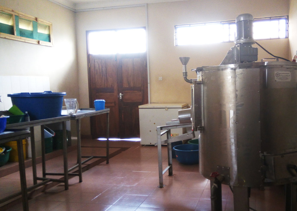Pasteurizer and fridge