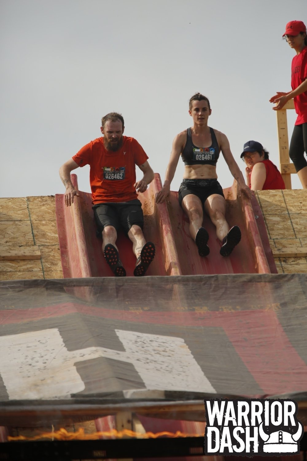 Partners in crime. Warrior Dash with husband Matt.