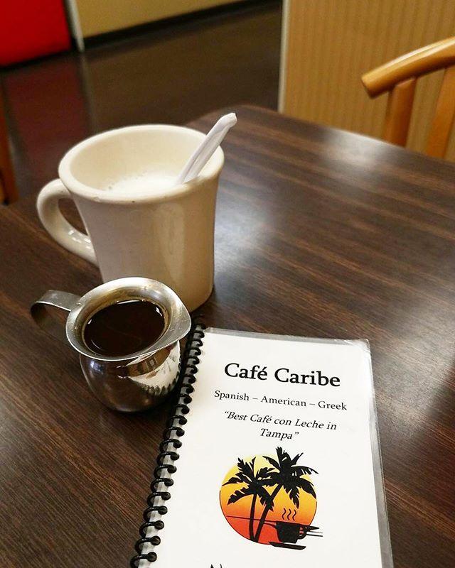 Enjoying some cafe con leche next door before the storm. #hurricaneirma