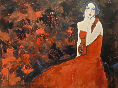 """Rhapsody in Red"" 44""h x 56""w by George Hamilton"