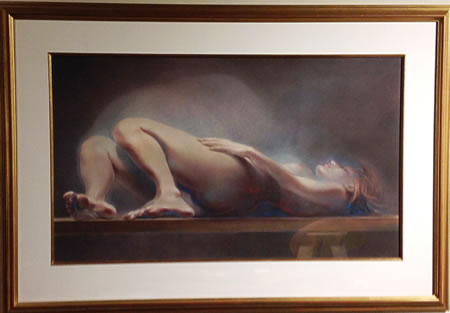 """Study In Motion"" pastel on paper 37""H x 54""W by Julio Herra Zapata"