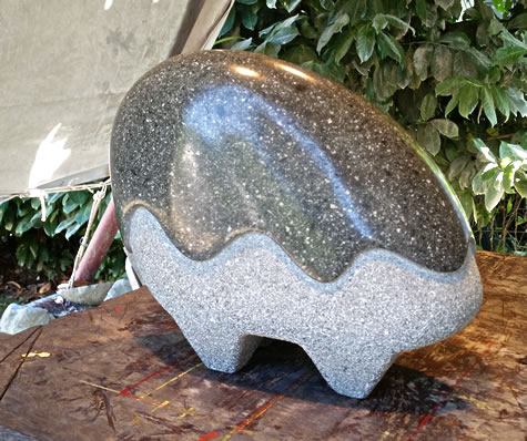 """Cloudwalker"" Carved Pilchuck Creek Granite 14""W x 12""H x 6-1/2""D by Reg Akright"