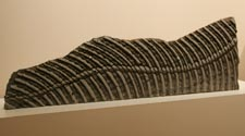 """Vertebra"" (front view / rear view) Tiramu Bluestone (New Zealand) 11 ""H x 33""W x 3.5""D $1650.00 for the pair"