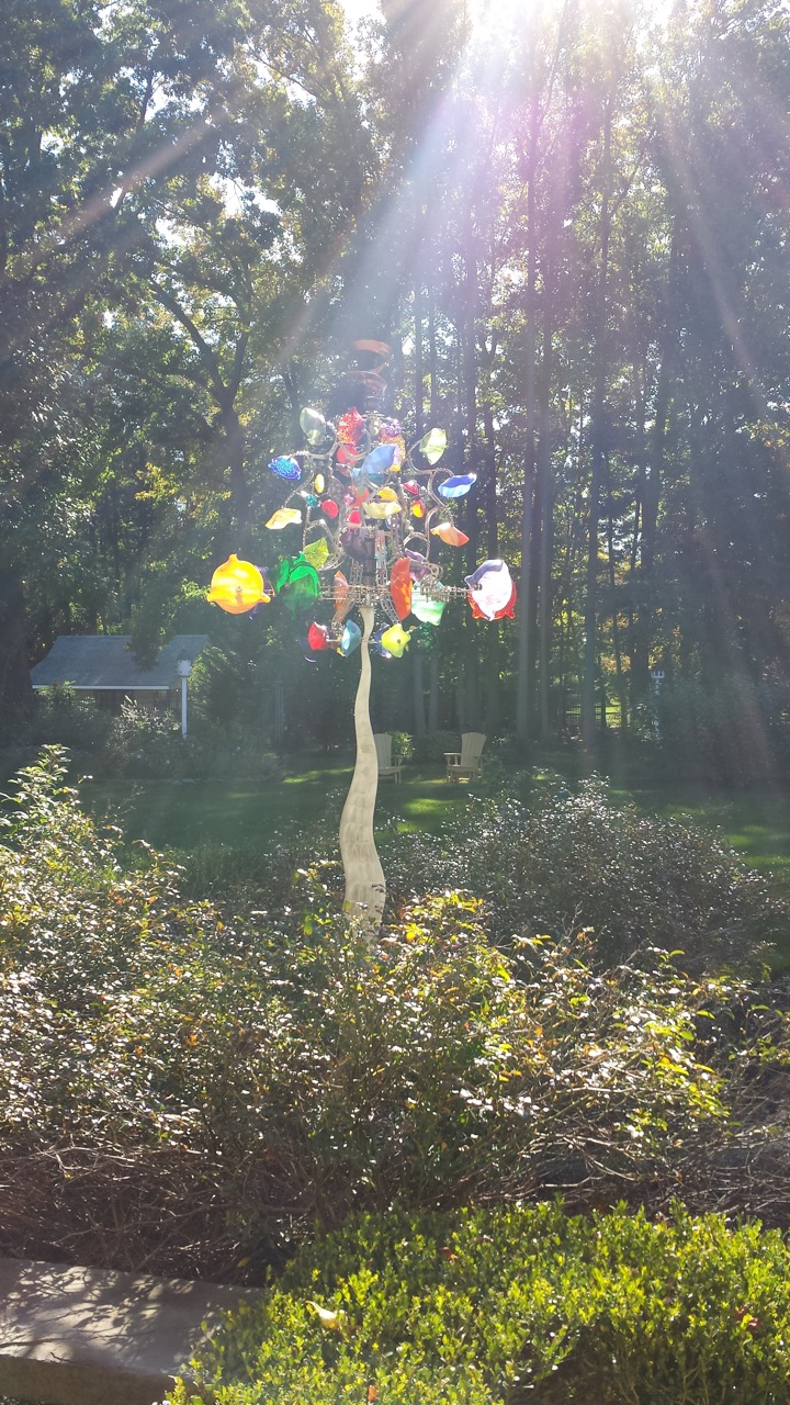 Glassinator in a garden