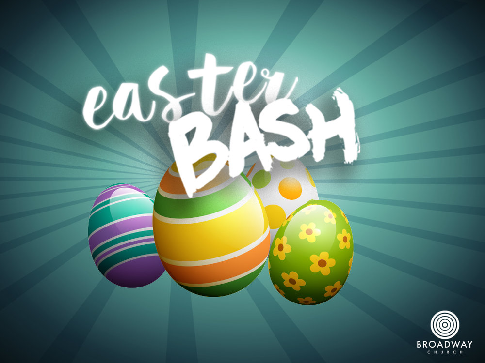 EASTER BASH  Saturday, March 31 Doors opens 10:45 am | Starts 11:00 am We have carnival games, crafts, bouncy castles, pony rides and 25,000 Easter eggs to give away!  Cost:  Free This event is for all families with kids ages 12 and under Location: Broadway Church - Vancouver Campus 2700 East Broadway, Vancouver More More Info:   Pastor Lewis Chifan