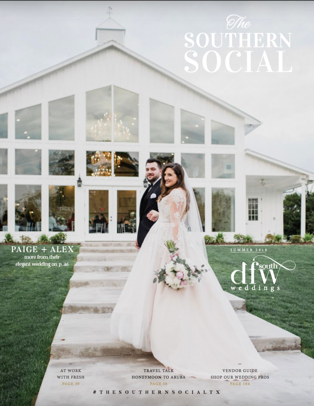 "Southern Social Magazine - Our April ""Summer Garden"" styled shoot was featured on pages 32-34! Check it out below!"