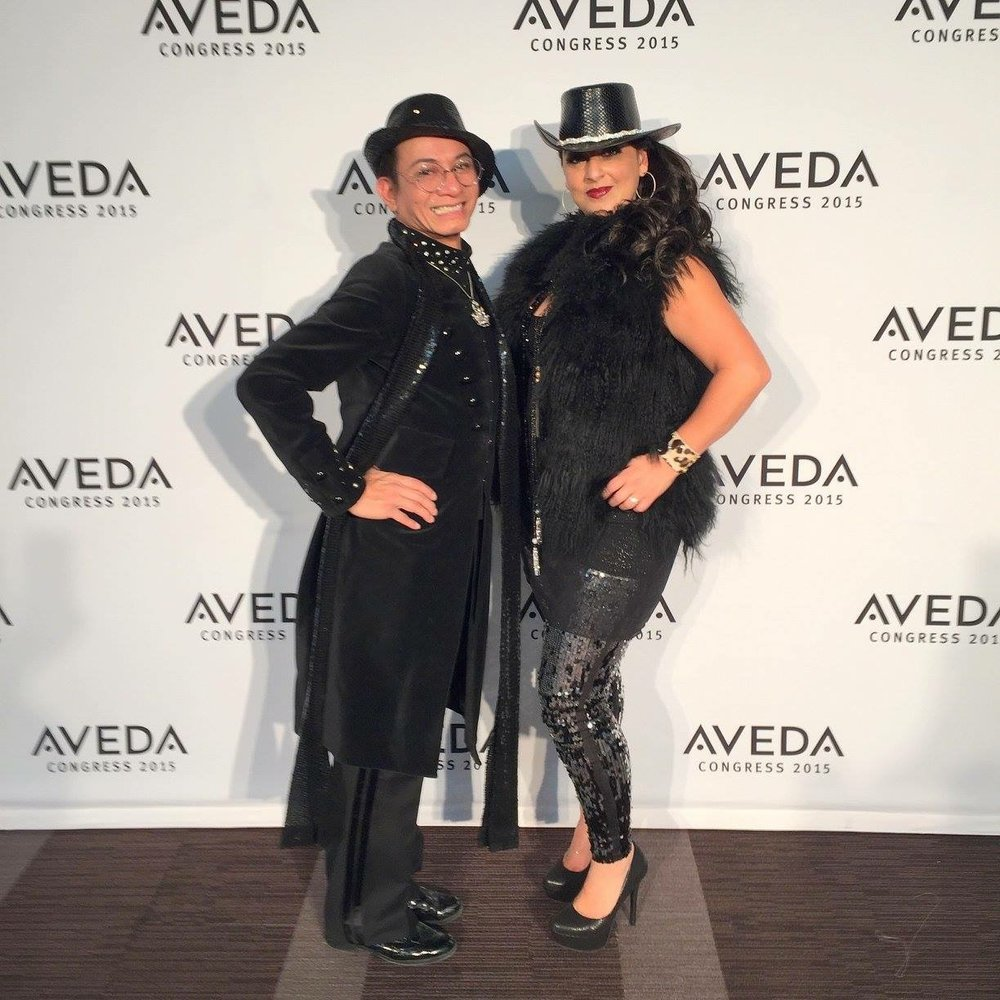 MY UTMOST GRATITUDE to Ruby Roxanne for managing Gila Rut, Aveda Congress show. For her collaborating with me on this entire collection and her masterful craftsmanship where the #VISION came to #LIFE #DYMANICDUO  - Andre Soriano, Fashion Designer