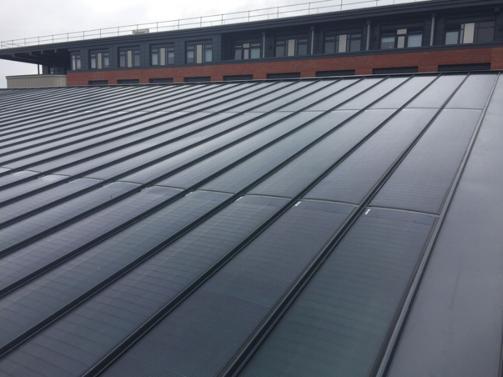 Sample solar roofing by BIPVco