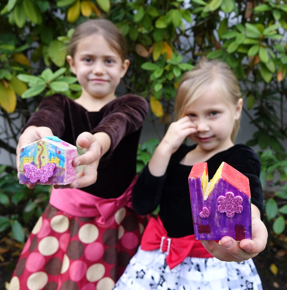 Jayda and Makenna raised $1,625 - by donating their artwork
