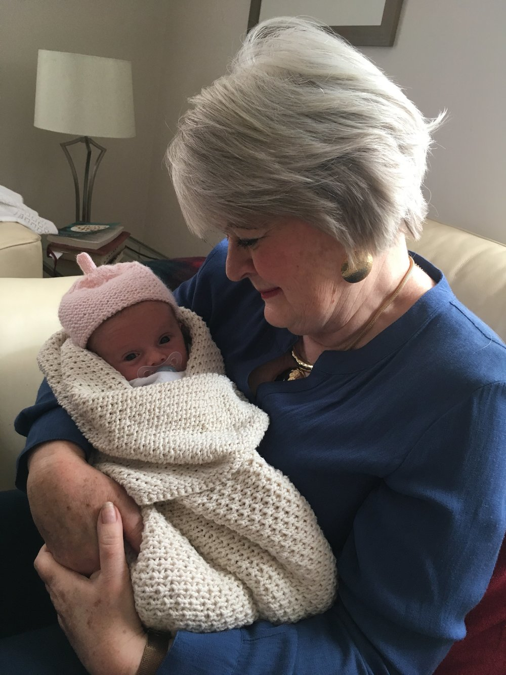 There's nothing like a new baby.  Sally's first grandchild, Lilian.