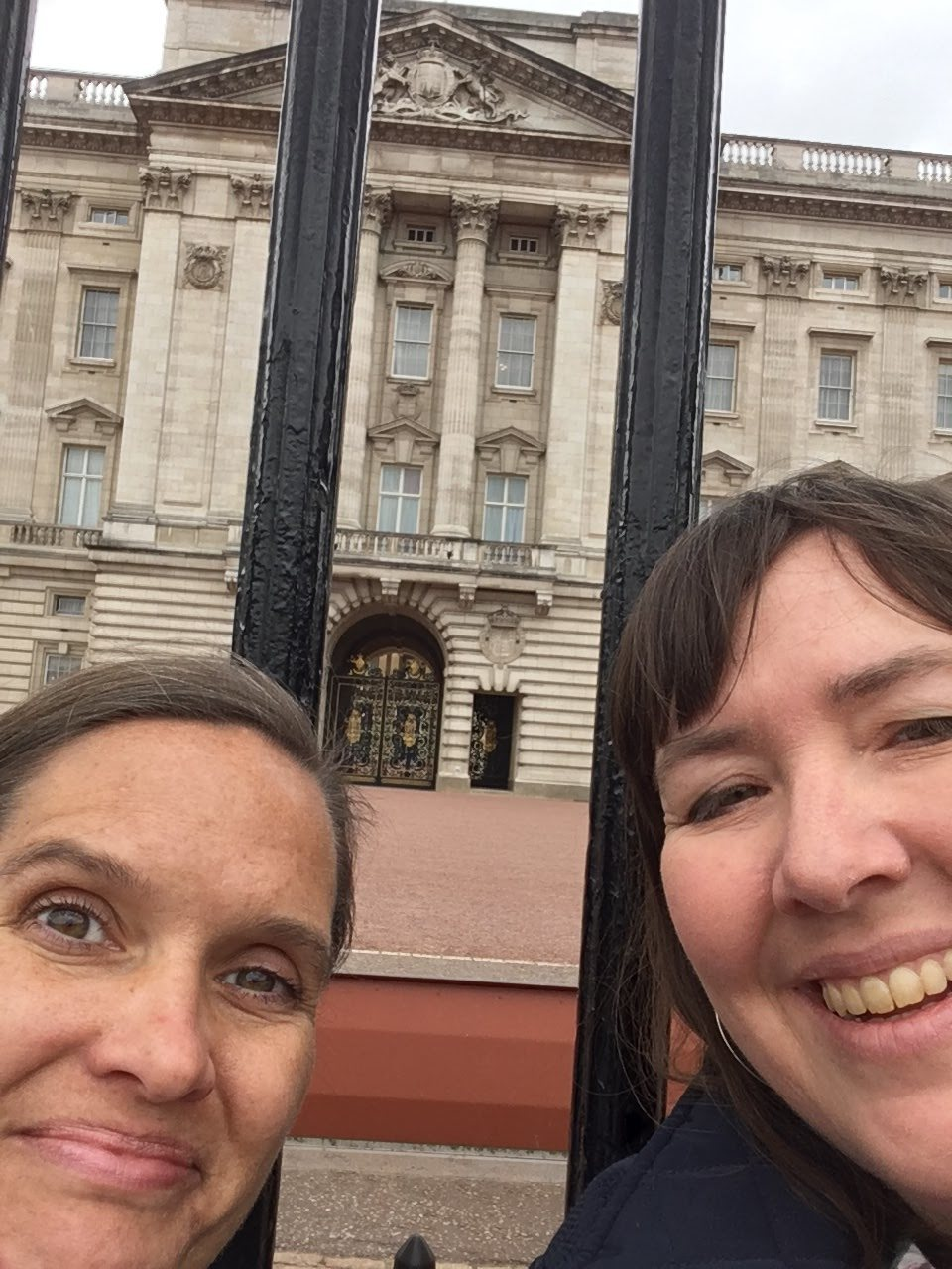 Buckingham Palace!!!! (The Queen didn't feel like taking a selfie with us.  Maybe next time.)