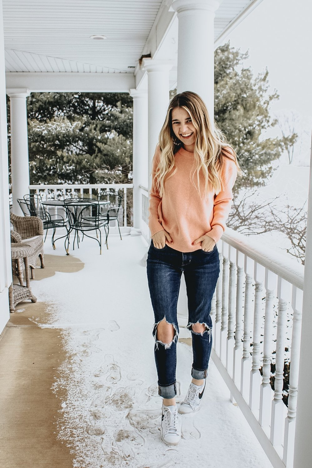 Free People Bralette Dupe and Spring Sweater