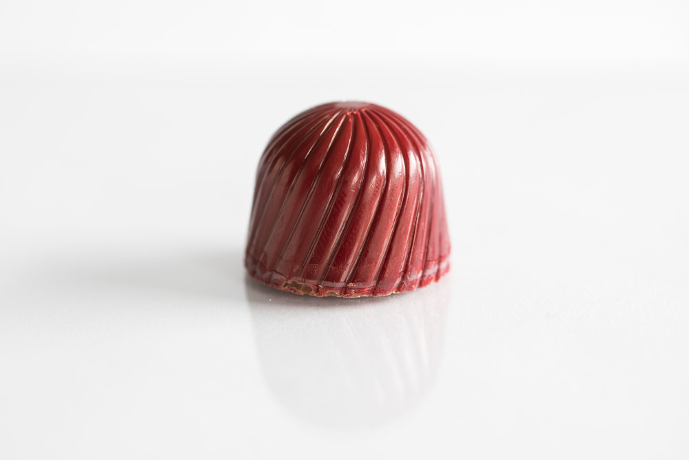Raspberry ganache /Dark Chocolate