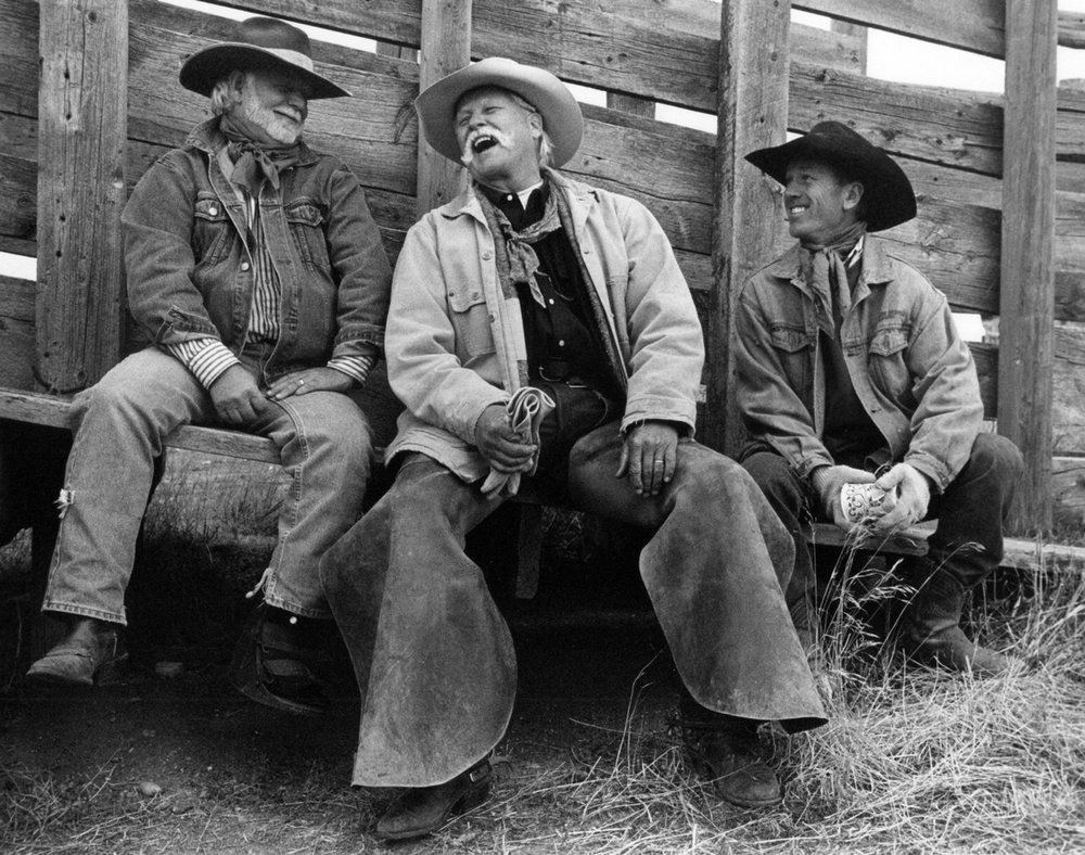 "Three Amigos: Clint, Mike, and Barry.  This image was part of the ""The Spirit of Wyoming"" exhibit at  Sage Community Arts  in Sheridan, Wyoming in June-July of 2018. The juror honored it with the  ""Best of Show"" award ."