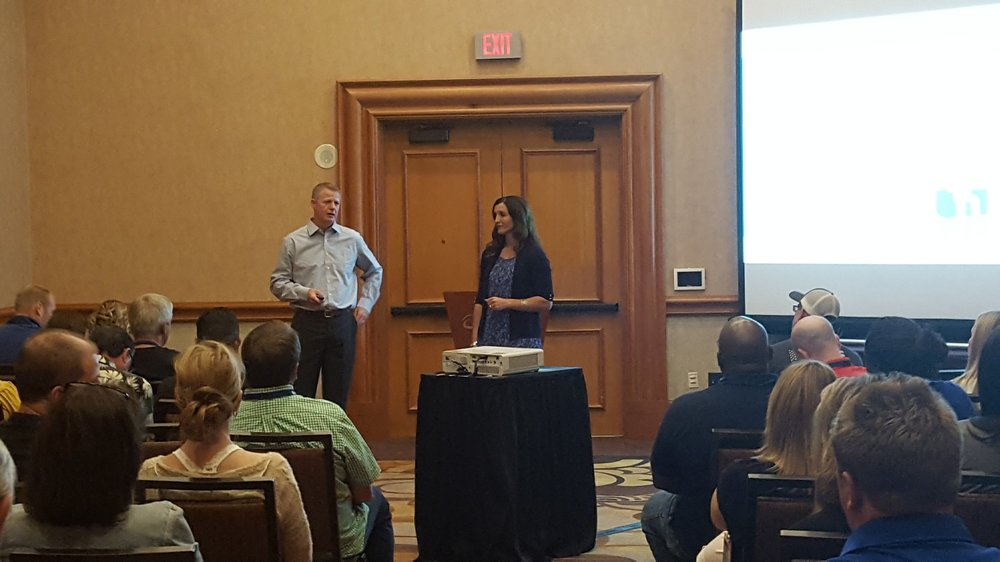 Speaking about the Secrets to a Great Partnership at the 2017 Service World Expo in Las Vegas, Nevada.