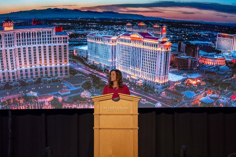 Angie Snow, Service World Expo Emcee 2018, Las Vegas, Nevada.