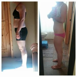 3 week progress pictures for client A.W. Congrats girl!