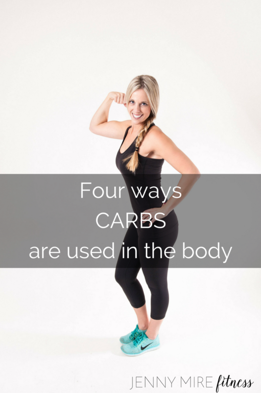 Four waysCARBSare utilized in the body