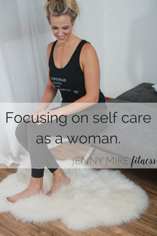 Focusing on self careas a woman.