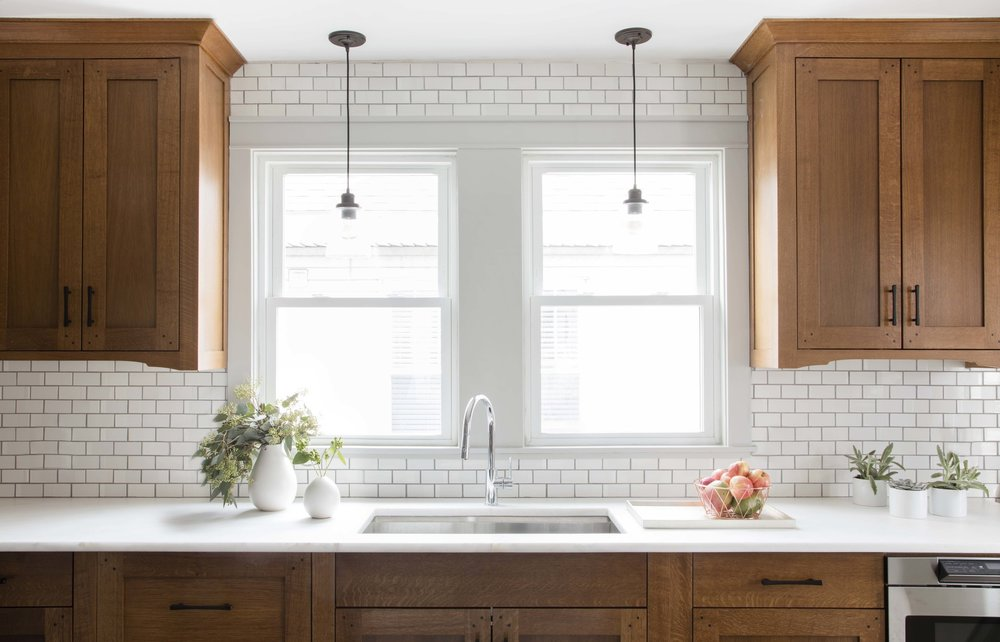 Marine Road kitchen subway tile backsplash and countertops