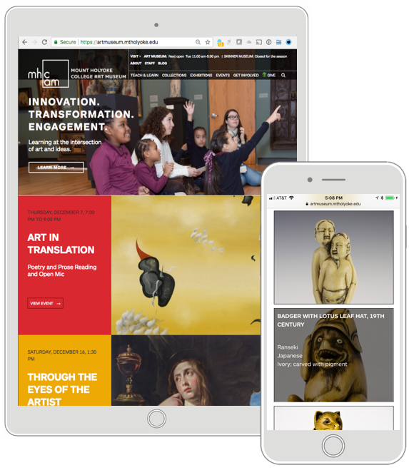 Mount Holyoke College Art Museum - Challenge: Design a visually rich website for educators and students that integrates resources and collections data with a new branding approach. Get in touch for a tour of the case study
