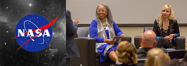 Pictured above: Dream, Girl Q&A moderated by Donna Speller Turner an organization development consultant and senior facilitator at NASA.