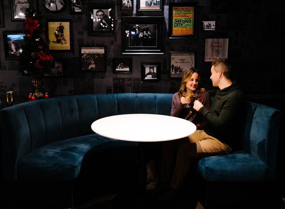 024-rempel-photography-chicago-wedding-photography-christina-paul-lincoln-park-engagement-session-second-city-bar.jpg