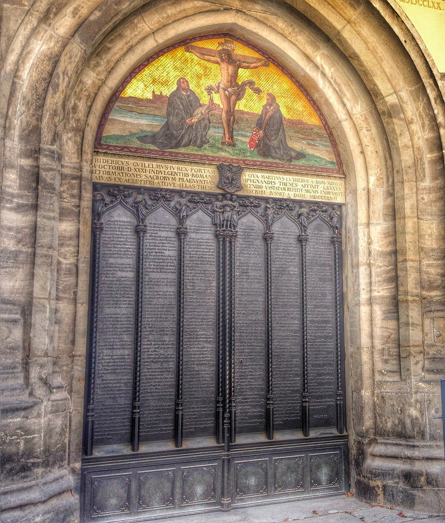 "The ""Theses Doors"" at Wittenberg Castle Church."