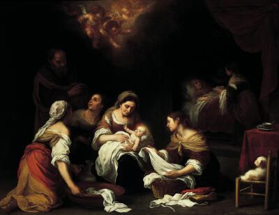 The Birth of St. John the Baptist, Bartholomé-Esteban Murillo, 1655.