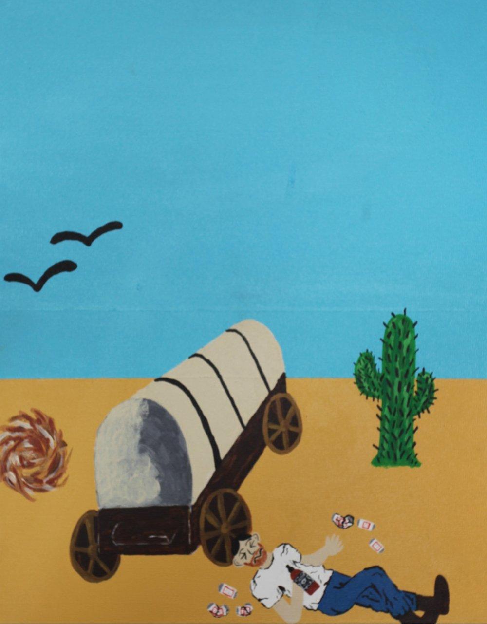 "untitled #8   acrylic on wood panel  11"" x 14""  2013"