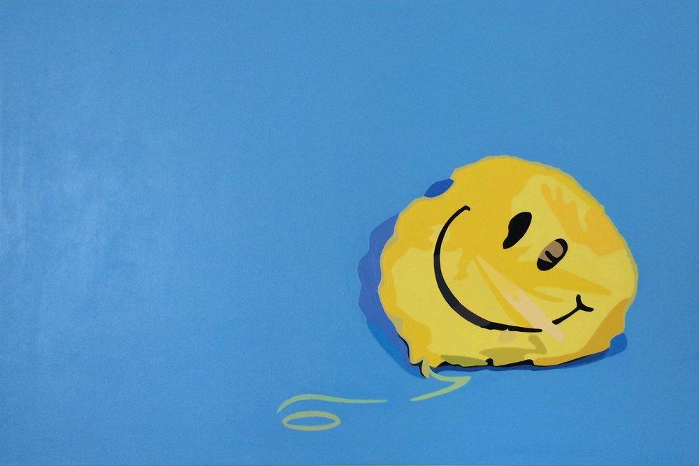 "balloon   acrylic on canvas  36"" x 24""  2017"