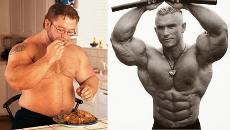 Bulking and Cutting. Yes - that's the same dude.